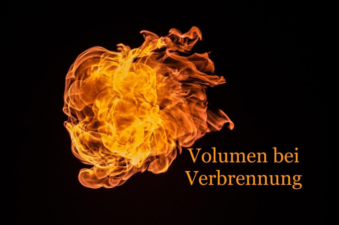 Volumen bei Verbrennung
