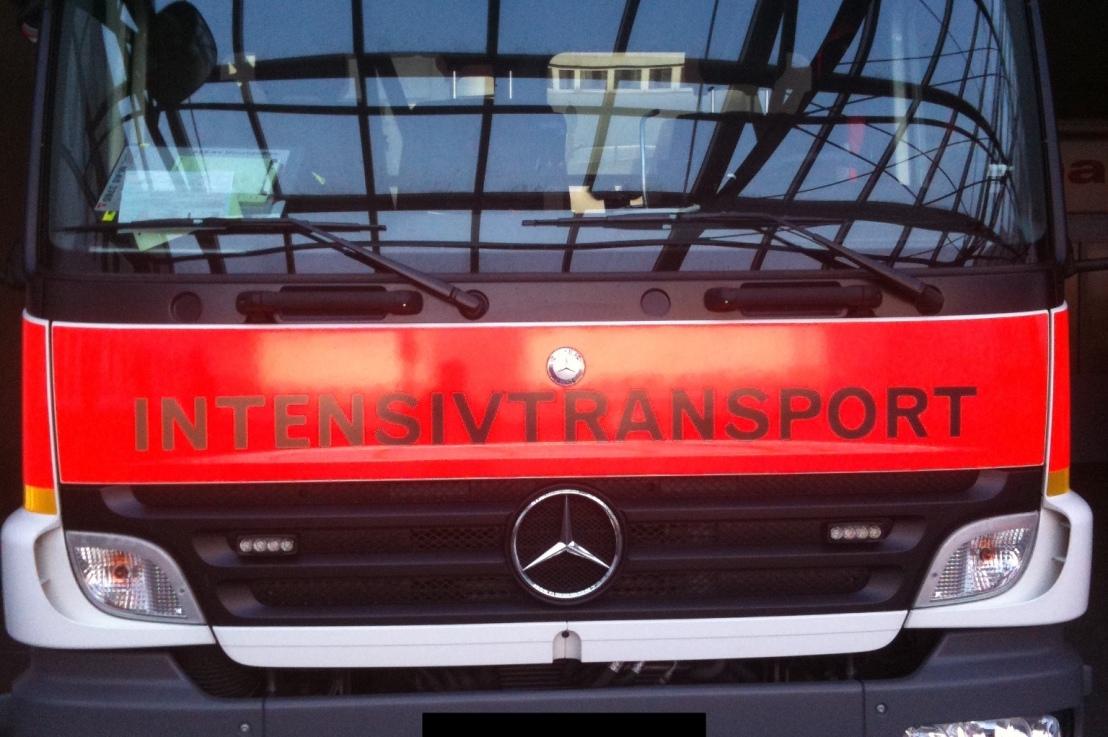 Transport in Bauchlage beiARDS