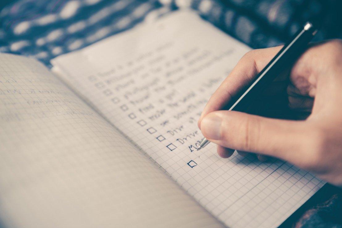 Merkhilfe / Checkliste